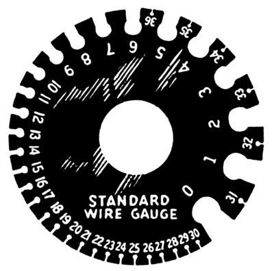 Wire gauge energy education a diagram showing the different gauges of wire and their corresponding number based on its cross section keyboard keysfo Choice Image