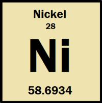 Nickel energy education nickel atomic number of 28 and atomic weight of 586934 urtaz Choice Image