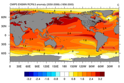 Ocean heat energy education map showing the change in average ocean surface temperatures from 1956 2005 click to enlarge parts of the northern hemisphere have increased in gumiabroncs Gallery
